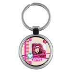 love - Key Chain (Round)