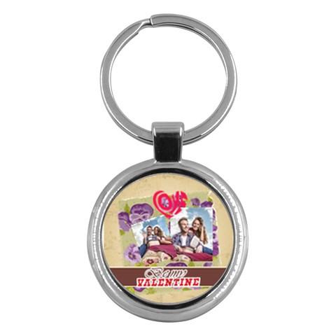 Love By Ki Ki   Key Chain (round)   75x094oar337   Www Artscow Com Front