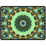 Green Fractal Shroom - Double Sided Fleece Blanket (Large)