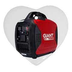 2000w Petrol Inverter Generator Heart Ornament (two Sides) by hinterlandparts