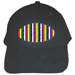 Basic Colors Curly Stripes Black Baseball Cap by BestCustomGiftsForYou