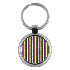 Basic Colors Curly Stripes Key Chain (round) by BestCustomGiftsForYou