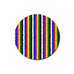 Basic Colors Curly Stripes Drink Coaster (round) by BestCustomGiftsForYou