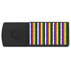 Basic Colors Curly Stripes 4gb Usb Flash Drive (rectangle) by BestCustomGiftsForYou