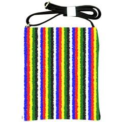 Basic Colors Curly Stripes Shoulder Sling Bag by BestCustomGiftsForYou