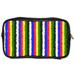 Basic Colors Curly Stripes Travel Toiletry Bag (two Sides) by BestCustomGiftsForYou
