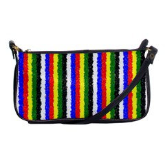 Basic Colors Curly Stripes Evening Bag by BestCustomGiftsForYou