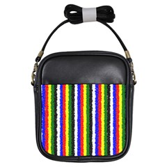 Basic Colors Curly Stripes Girl s Sling Bag by BestCustomGiftsForYou