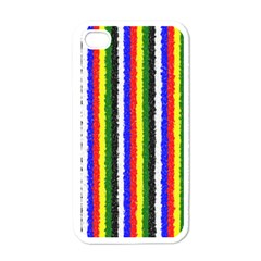 Basic Colors Curly Stripes Apple Iphone 4 Case (white) by BestCustomGiftsForYou