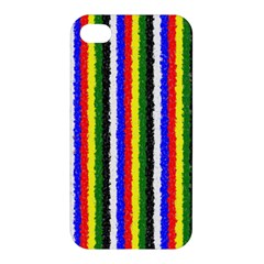 Basic Colors Curly Stripes Apple Iphone 4/4s Hardshell Case by BestCustomGiftsForYou