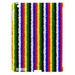 Basic Colors Curly Stripes Apple Ipad 3/4 Hardshell Case (compatible With Smart Cover)