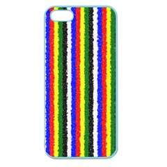 Basic Colors Curly Stripes Apple Seamless Iphone 5 Case (color) by BestCustomGiftsForYou