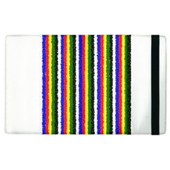 Basic Colors Curly Stripes Apple Ipad 3/4 Flip Case by BestCustomGiftsForYou
