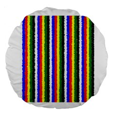 Basic Colors Curly Stripes 18  Premium Round Cushion  by BestCustomGiftsForYou