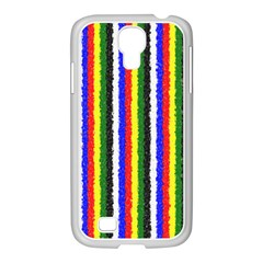Basic Colors Curly Stripes Samsung Galaxy S4 I9500/ I9505 Case (white) by BestCustomGiftsForYou