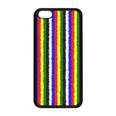 Basic Colors Curly Stripes Apple Iphone 5c Seamless Case (black) by BestCustomGiftsForYou