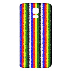 Basic Colors Curly Stripes Samsung Galaxy S5 Back Case (White)