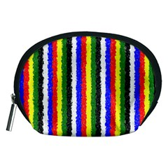 Basic Colors Curly Stripes Accessory Pouch (medium) by BestCustomGiftsForYou