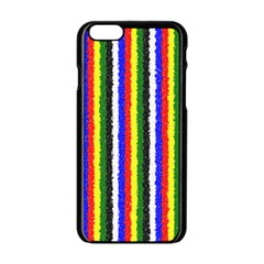 Basic Colors Curly Stripes Apple Iphone 6 Black Enamel Case by BestCustomGiftsForYou