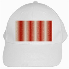 Red Curly Stripes White Baseball Cap by BestCustomGiftsForYou