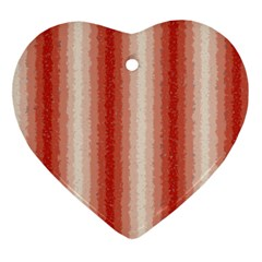 Red Curly Stripes Heart Ornament by BestCustomGiftsForYou