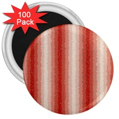 Red Curly Stripes 3  Button Magnet (100 Pack) by BestCustomGiftsForYou