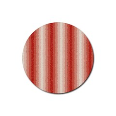 Red Curly Stripes Drink Coasters 4 Pack (round) by BestCustomGiftsForYou
