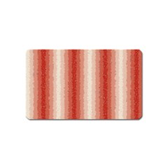 Red Curly Stripes Magnet (name Card) by BestCustomGiftsForYou