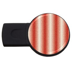 Red Curly Stripes 4gb Usb Flash Drive (round) by BestCustomGiftsForYou