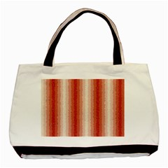 Red Curly Stripes Classic Tote Bag by BestCustomGiftsForYou