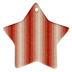 Red Curly Stripes Star Ornament (two Sides) by BestCustomGiftsForYou