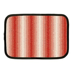 Red Curly Stripes Netbook Sleeve (medium) by BestCustomGiftsForYou