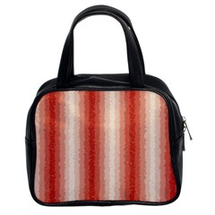 Red Curly Stripes Classic Handbag (two Sides) by BestCustomGiftsForYou