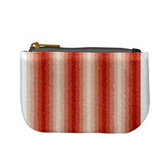 Red Curly Stripes Coin Change Purse by BestCustomGiftsForYou