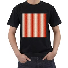 Red Curly Stripes Men s T Shirt (black) by BestCustomGiftsForYou
