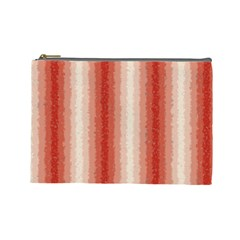 Red Curly Stripes Cosmetic Bag (large) by BestCustomGiftsForYou