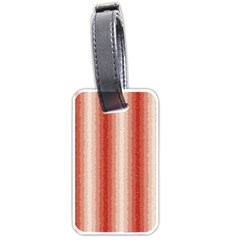 Red Curly Stripes Luggage Tag (two Sides) by BestCustomGiftsForYou