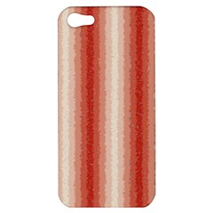 Red Curly Stripes Apple Iphone 5 Hardshell Case by BestCustomGiftsForYou
