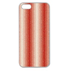 Red Curly Stripes Apple Seamless Iphone 5 Case (clear) by BestCustomGiftsForYou