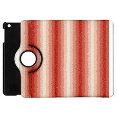 Red Curly Stripes Apple Ipad Mini Flip 360 Case by BestCustomGiftsForYou