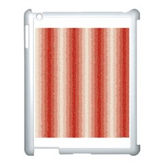 Red Curly Stripes Apple Ipad 3/4 Case (white) by BestCustomGiftsForYou