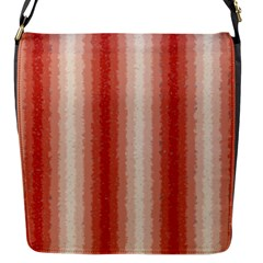 Red Curly Stripes Flap Closure Messenger Bag (small)