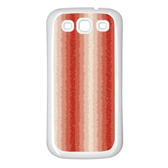Red Curly Stripes Samsung Galaxy S3 Back Case (white) by BestCustomGiftsForYou