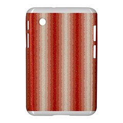 Red Curly Stripes Samsung Galaxy Tab 2 (7 ) P3100 Hardshell Case  by BestCustomGiftsForYou