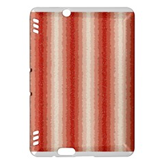 Red Curly Stripes Kindle Fire Hdx Hardshell Case by BestCustomGiftsForYou