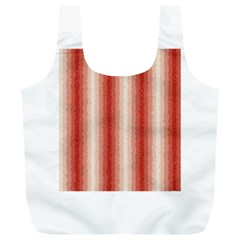 Red Curly Stripes Reusable Bag (xl) by BestCustomGiftsForYou