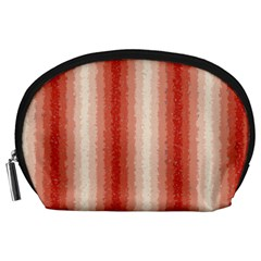 Red Curly Stripes Accessory Pouch (large) by BestCustomGiftsForYou