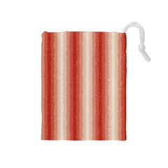 Red Curly Stripes Drawstring Pouch (medium) by BestCustomGiftsForYou