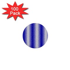Dark Blue Curly Stripes 1  Mini Button (100 Pack) by BestCustomGiftsForYou