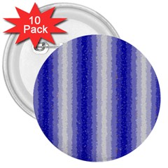 Dark Blue Curly Stripes 3  Button (10 Pack) by BestCustomGiftsForYou
